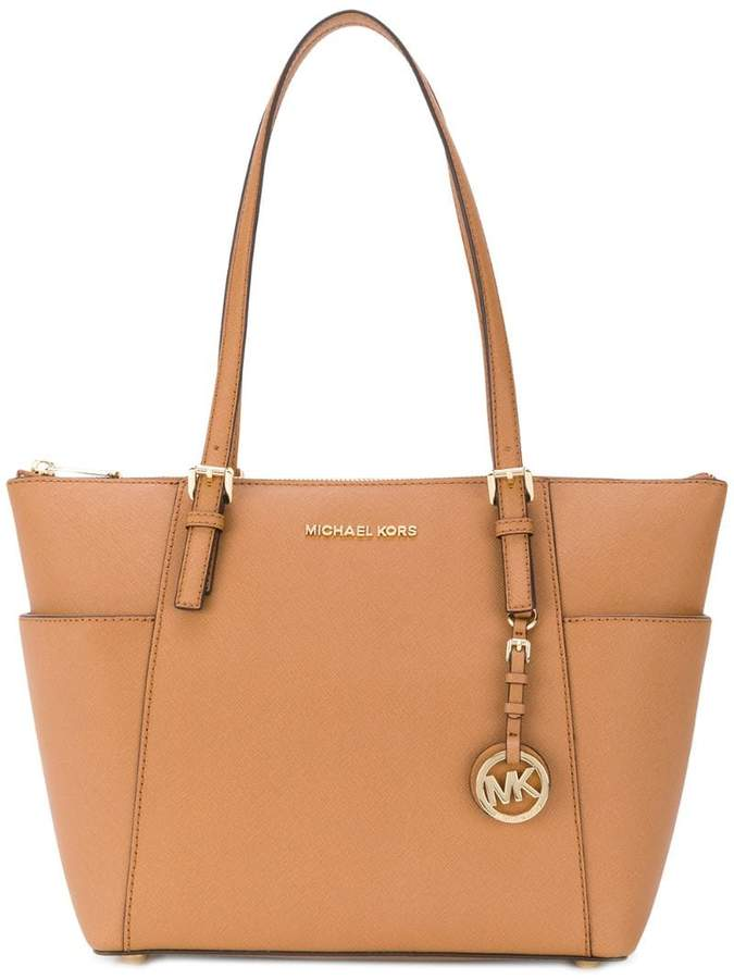 dbf586b40f7d Michael Kors Large Leather Shoulder Tote - ShopStyle Canada