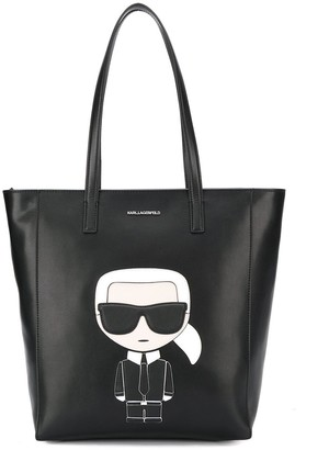 Karl Lagerfeld Paris Logo Patch Shopper Tote Bag