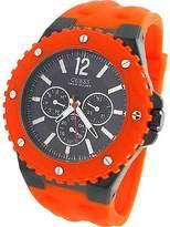 GUESS GUESS? Men's U12654G2 Orange Silicone Quartz Watch with Dial