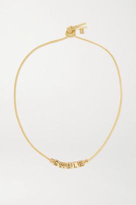 LAUREN RUBINSKI Smile 14-karat Gold Necklace - one size