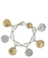Konstantino Women's 'Kerma' Coin Charm Bracelet