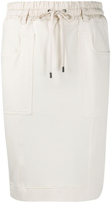 Tom Ford Drawstring Waist Midi Skirt