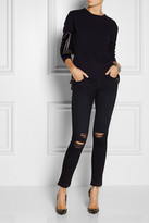 J Brand 811 Photo Ready distressed mid-rise skinny jeans