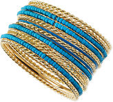 Jules Smith Designs Beaded Golden Bangles, Set of 13