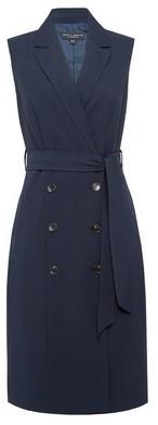 Dorothy Perkins Womens Navy Sleeveless Trench Dress