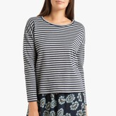 Hartford Thais Striped Cotton T-Shirt with Long Sleeves