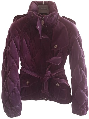 Burberry Purple Velvet Coats