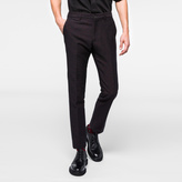 Paul Smith Men's Slim-Fit Black And Red Flecked Cross-Hatch Trousers