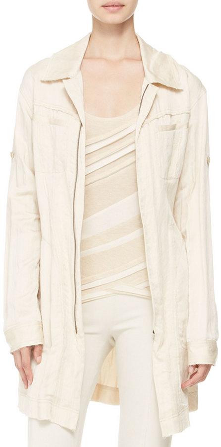 Donna Karan Belted Trench Shirt-Jacket