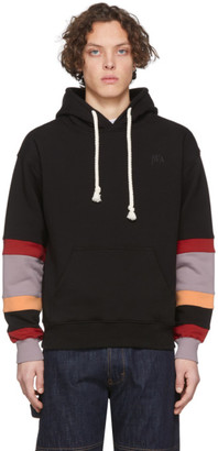 J.W.Anderson Black Colorblock Sleeves Logo Hoodie