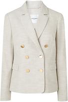LK Bennett L.K.Bennett Nixie Linen Jacket, Grey