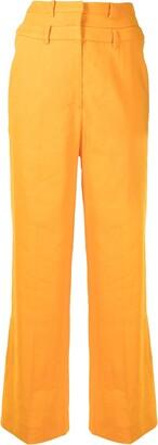 REJINA PYO Laila high-waisted flared trousers