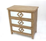 Bungalow Rose Crescentia Wooden 3 Drawer Accent Chest