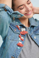 Pilcro and the Letterpress Pilcro Embellished Denim Jacket