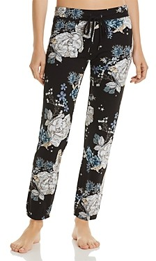 PJ Salvage Track Star Floral Print French Terry Pants
