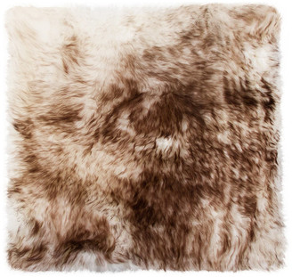"""Natural 100% New Zealand Sheepskin Chair Seat Cover, 17""""x17"""", Gradient Chocola"""
