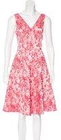 Teri Jon Patterned A-Line Dress