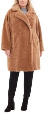 Michael Kors Michael Plus Size Faux-Fur Teddy Coat