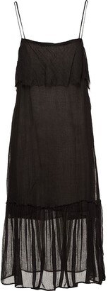 Miu Miu Sheer Overlay Dress