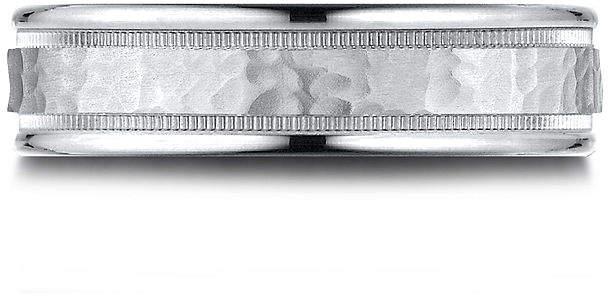 JCPenney MODERN BRIDE Mens 10K White Gold 6mm Hammered Band