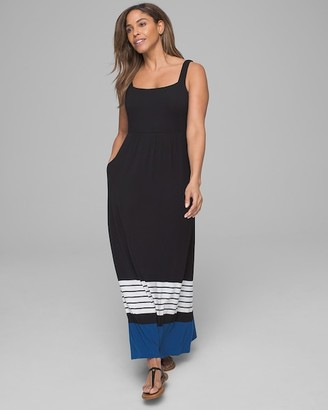 Soma Intimates Square Neck Maxi Dress with Built-In Bra