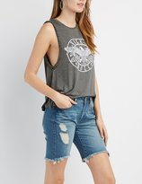 Charlotte Russe Rock 'N' Roll Graphic Tank Top