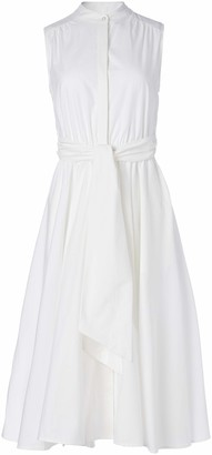 Calvin Klein Women's Sleeveless Midi Shirt Dress with Full Pleated Skirt