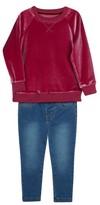 Hudson Infant Girl's Sweatshirt & Jeggings Set