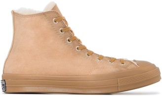 Converse Brown Shearling Chuck 70 high top sneakers