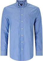 Gant Broadcloth Striped Button Down Shirt, Nautical Blue