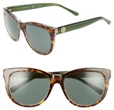 Tory Burch Women's 55Mm Sunglasses - Green Crystal
