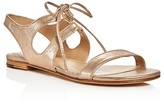 Pour La Victoire Lacey Metallic Lace Up Sandals