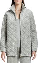 Joan Vass Quilted Velour Jacket, Petite