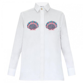 N. Non Signé / Unsigned Non Signe / Unsigned \N White Cotton Tops