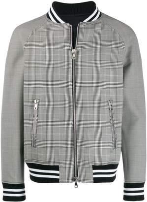 Balmain checked bomber jacket