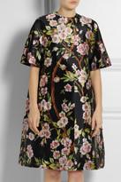 Dolce & Gabbana Floral-print silk-mikado duster coat