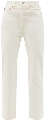 RE/DONE 70s Stove Pipe High-rise Straight-leg Jeans - Cream