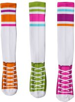 LittleMissMatched Girls 4-9 Little Miss Matched 3-pk. Sneaker Knee-High Socks