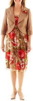Dana Kay Floral Print Dress with Jacket