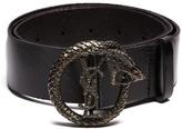 Saint Laurent Monogram Snake-buckle Leather Belt