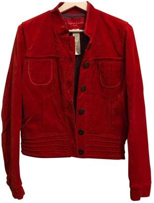 Christian Lacroix Red Cotton Jacket for Women Vintage
