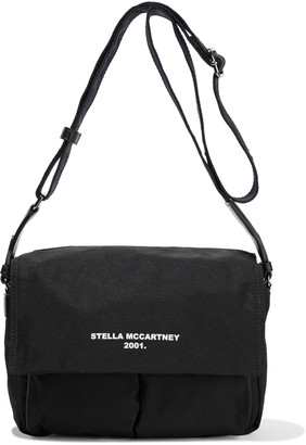 Stella McCartney Faux Leather-trimmed Printed Twill Shoulder Bag