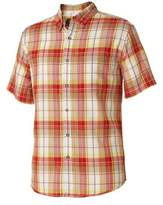 Royal Robbins Men's Olly Oxford Short Sleeve Plaid Shirt - Crimson Short Sleeve Shirts