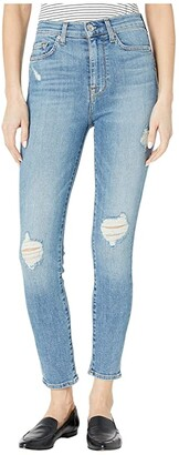 7 For All Mankind High-Waist Ankle Skinny in Sloane Vintage with Destroy (Sloane Vintage with Destroy) Women's Jeans
