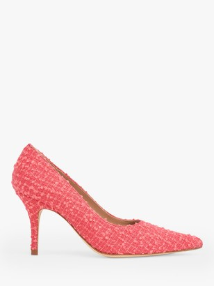 LK Bennett Harmony Pointed Toe Tweed Court Shoes, Pink Candy