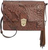 Patricia Nash Burnished Tooled Lace Lanza Crossbody Organizer