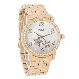 Rotary Womens Skeleton Automatic Watch with Stainless Steel Strap LB03736/41S