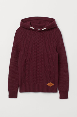 H&M Knit Hooded Sweater - Red
