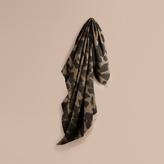 Burberry Animal Jacquard Cashmere Blanket