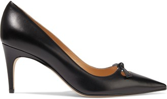Sergio Rossi Isobel Cutout Knotted Leather Pumps